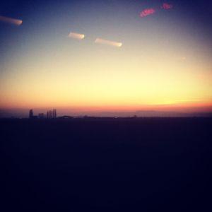 Sunset over the villages of Strasbourg.