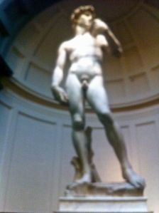 A quick snap of David before I got told off :p it is a magnificent statue though
