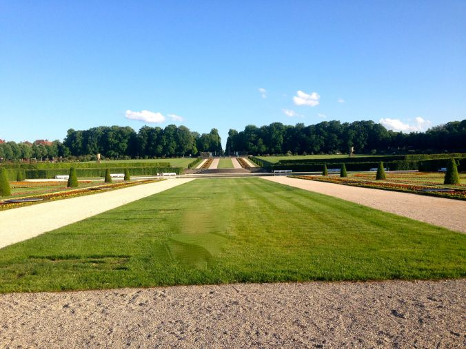 The gardens remind me of Versailles