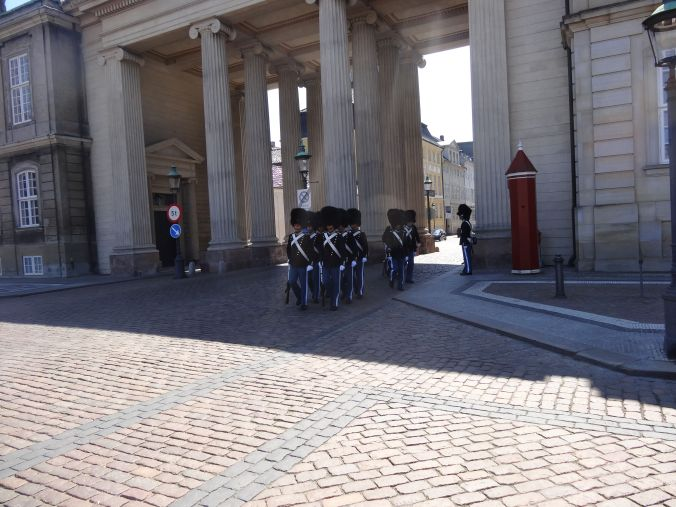 Watching the changing of the guards, worth doing as they're right in front of you