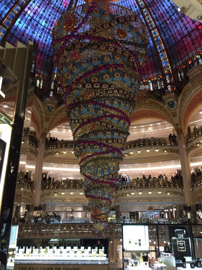 Galleries Lafayette's Christmas decorations