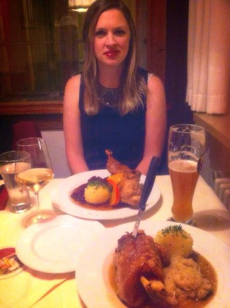 Dinner at one of Schwangau's little Bavarian restaurants. Suffice to say I got through hardly half of that...